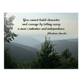 Quote by Abraham LIncoln: You cannot build Postcard