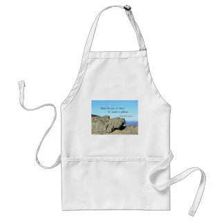 Quote by Emerson: Adopt the pace of nature.... Aprons