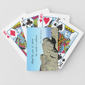 Quote by Emerson: Adopt the pace of nature.... Bicycle Playing Cards