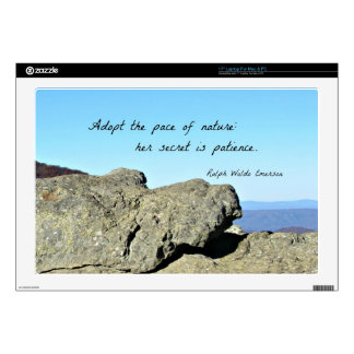 Quote by Emerson: Adopt the pace of nature.... Laptop Skin