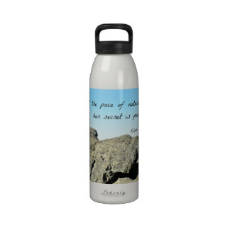 Quote by Emerson: Adopt the pace of nature.... Reusable Water Bottles