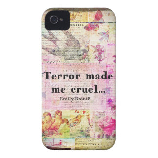 Quote by Emily Bronte -  Terror made me cruel iPhone 4 Cover