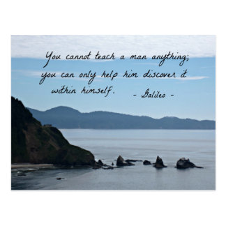 Quote by Galileo: You cannot teach a man anything Postcard