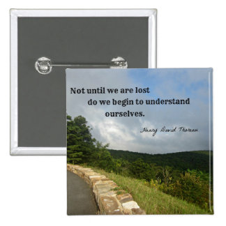 Quote by Henry David Thoreau about understanding. Pinback Buttons