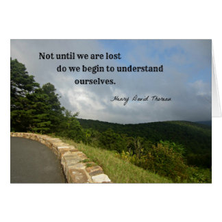 Quote by Henry David Thoreau about understanding. Card