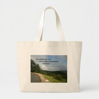 Quote by Henry David Thoreau about understanding. Large Tote Bag