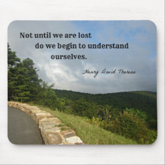 Quote by Henry David Thoreau about understanding. Mouse Pad