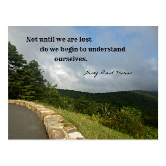 Quote by Henry David Thoreau about understanding. Postcard