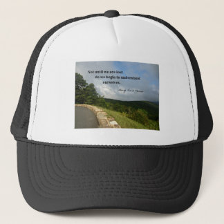 Quote by Henry David Thoreau about understanding. Trucker Hat