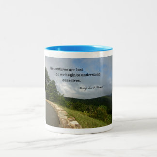 Quote by Henry David Thoreau about understanding. Two-Tone Coffee Mug