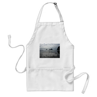 Quote by John Muir about going for a walk Adult Apron