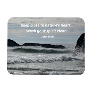 Quote by John Muir about nature. Rectangular Photo Magnet