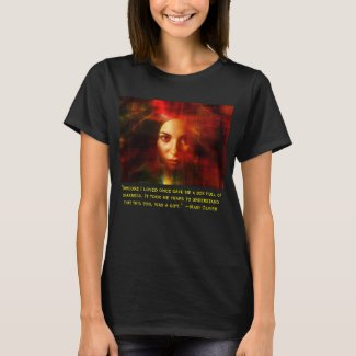 quote by Mary Oliver on darkness T-Shirt