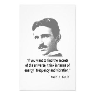 Quote By Nikola Tesla Stationery