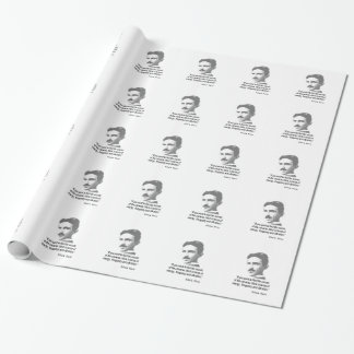 Quote By Nikola Tesla Wrapping Paper