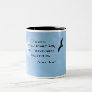 Quote by Patrick Henry about government Two-Tone Coffee Mug