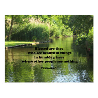 Quote by Pissarro: Blessed are they who see Postcard