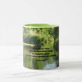 Quote by Pissarro: Blessed are they who see Two-Tone Coffee Mug