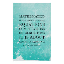 Quote by Thurston - Math Posters