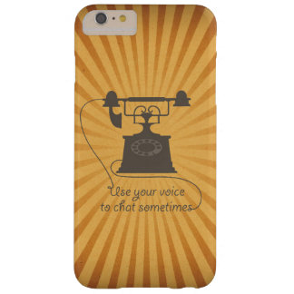 Quote design encouraging verbal communication barely there iPhone 6 plus case