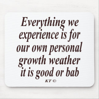 Quote for personal growth mouse pads
