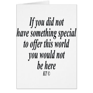 Quote for you are special greeting card