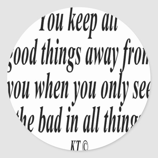 Quote for you are what you see classic round sticker