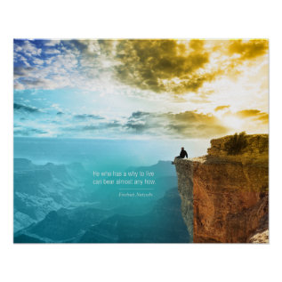 Quote Friedrich Nietzsche Nature Adventure Nature Poster at Zazzle