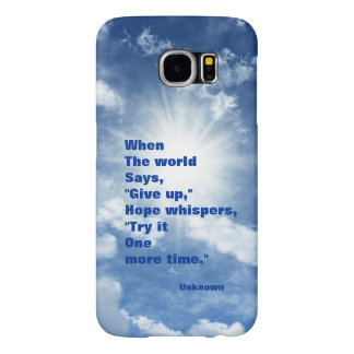 Quote hope and faith blue sky design samsung galaxy s6 case