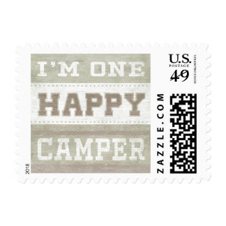 Quote   I'm One Happy Camper Postage