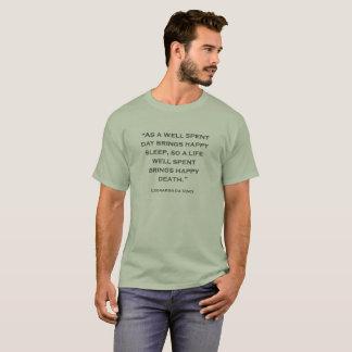 Quote Leonardo da Vinci 09 T-Shirt