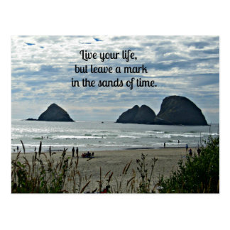 Quote: Live your life, but leave a mark on the... Postcard