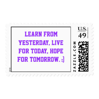 Quote on a Stamp