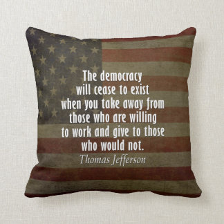Quote on Democracy, Socialism and Taxes Throw Pillow