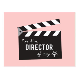 Quote on life, Director Action Board, Slate Postcard