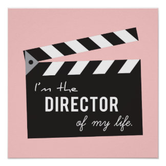 Quote on life, Director Action Board, Slate Poster