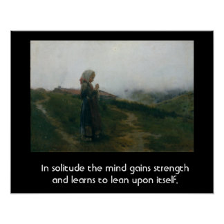 Quote on Solitude with an Introspective Image Print