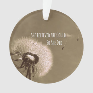 Quote: She believed she could so she Did Ornament