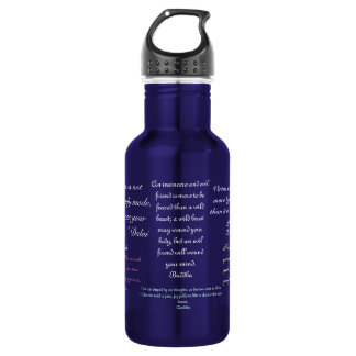 quote stainless steel water bottle