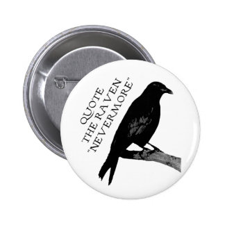 Quote The Raven Pinback Button