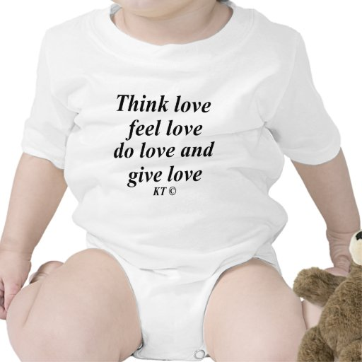 Quote think love bodysuits