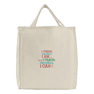 Quote Tote by SRF Embroidered Tote Bag