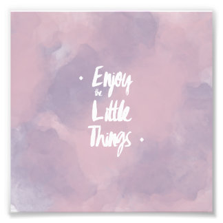 Quote typography modern pink purple watercolor photo print