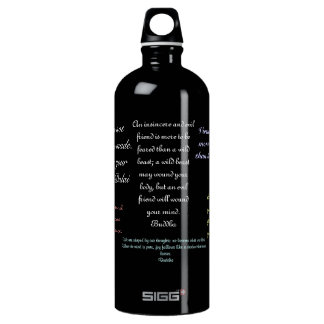 quote water bottle