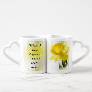 "Quote:  ""When I see a daffodil ...""  Flower Pics Coffee Mug Set"