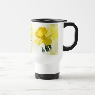 """Quote:  """"When I see a daffodil ...""""  Flower Pics Travel Mug"""
