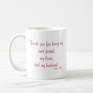 "Quote with Message ""Love"" mug"
