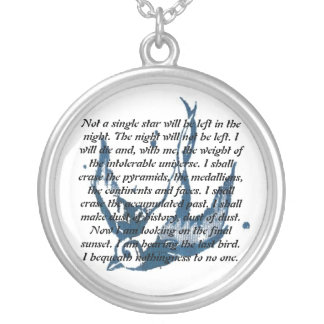 Quoted Sparrow Necklace