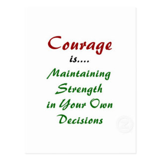 Quotes About Courage on Products Postcards