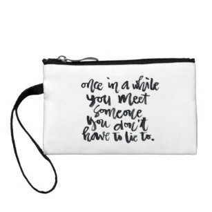 Thoughtful Quotes Wristlets Zazzle
